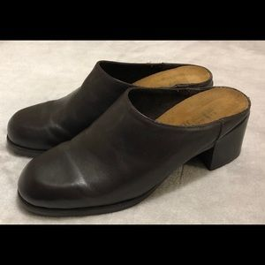 Naot Brown Leather mules Clogs Slip On Shoes SZ 8